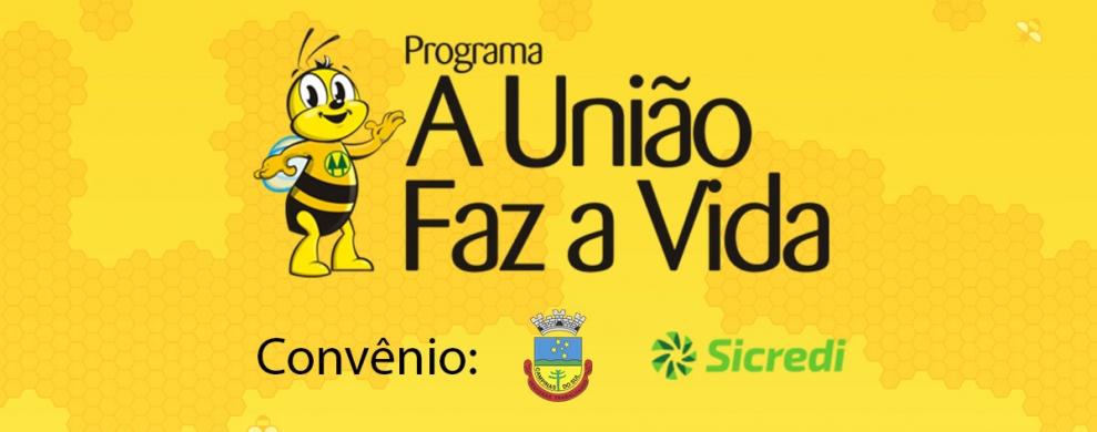 Banner PROGRAMA  A UNIÃO FAZ A VIDA