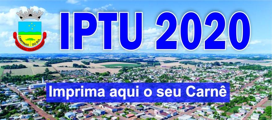Banner IPTU 2020