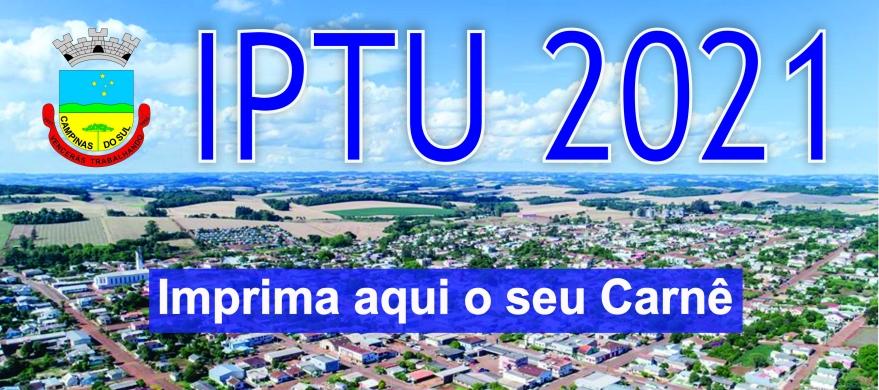 Banner IPTU 2021